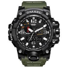 SMAEL WATCH Digital Wrist Sport Series LED for Men Waterproof 1545 ARMY GREEN