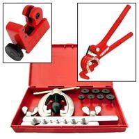BRAKE FUEL PIPE REPAIR TOOL - METRIC/AF FLARING KIT + MINI BENDER + TUBE CUTTER