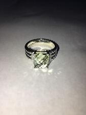 David Yurman Sterling Silver Petite Wheaton Prasiolite Ring