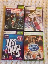 xbox 360 kinect game lot: Just Dance 3, Dance Central, American Idol