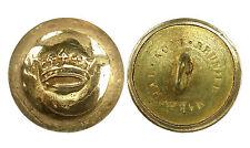 Ancien Bouton de Livrée, Couronne de Marquis. 18 mm. Doré, bombé. Vers 1890