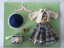 OOAK Vintage Barbie Curated Fashion - Aztec Afternoon - Dress hat purse sweater