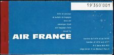 AIR FRANCE AIRLINES FRANCE AVIATION PASSENGER TICKET 1961