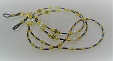 Spectacle Glasses Eyewear Beaded Chain Holder - Purple Gold Pearl
