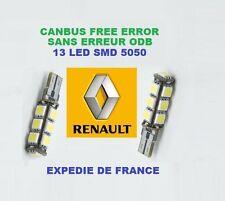AMPOULES LED W5W T10 13 LED RENAULT Espace III 1997->2003 ANTI ERREUR - NEUF