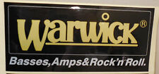 3 NEW WARWICK BASSES, AMPS, AND ROCK'N ROLL GUITAR CAR BUMPER STICKERS