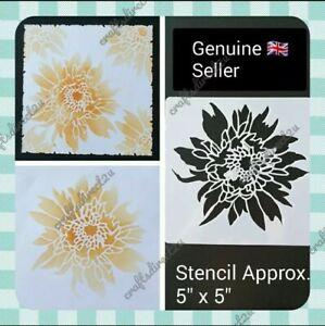 "Stencil - FLOWER - Style 1 -  5"" x 5"" - Crafting - Scrapbooking - Cardmaking"