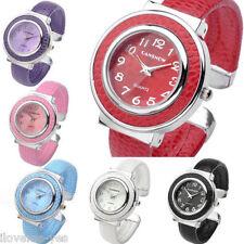 Womens Lady Candy Color Sports Quartz Analog Wrist Watch Bracelet Bangle Cuff