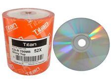 3000 Titan Brand Shiny Silver Top 52X CD-R CDR Blank Disc Media Wholesale Lot