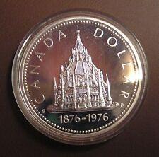 Canada 1976 Large Silver Specimen $1-Parliament