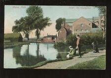 Northants NUNN MILLS Children fishing PPC 1910