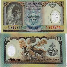NEPAL billet neuf en POLYMERE de 10 ruppees Pick45 Antilopes  2002