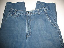 GLORIA VANDERBILT - 100% COTTON - BLUE DENIM  JEANS -  SIZE 12