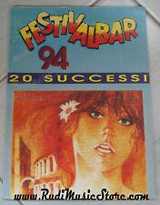 spartito FESTIVALBAR 94 songbook 20 successi NO cd lp mc vhs dvd