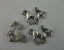 20pcs Tibetan silver horse charms pendant 16x21mm