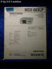 Sony Service Manual MDX 6&xlp Mini Disc Changer (#6283)