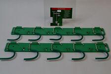 2 X Geräteleiste mit 5 Haken Gerätehalter Werkzeughalter Wandhalter Besenhalter