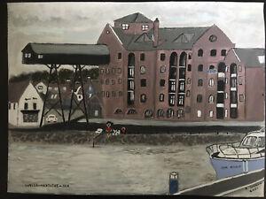 original acrylic painting on Artist Paper Wells-Next-The-Sea by Rita Jeffers