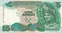 Vintage Banknote Malaysia 1991 5 Ringgit Pick 28c Choice UNC US Seller