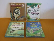 4 RANDOM HOUSE CHILDREN'S EDUCATIONAL STEP-UP BOOKS PLANTS FISH ANIMALS BIRDS