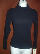 NEW SPANX ON TOP IN CONTROL 973 LONG SLEEVE MIDNIGHT BLUE TURTLENECK KNIT TOP S