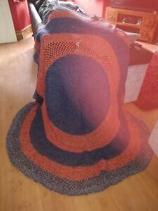 Vintage Round Crochet Blanket