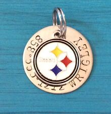 Pittsburgh Steelers  NFL Custom Dog Cat Pet ID Tag, Your Pets Name & #