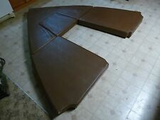 Boat Marine Cuddy Cabin Seat Cushions Complete Set Penn Yan Brown Set of 4