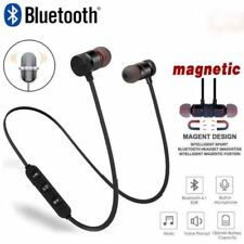 Wireless Bluetooth Headphones Magnetic Earphone4.1 In-ear Stereo Earbuds &Mic UK
