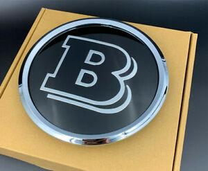 Neues 18.5CM Brabus B Kühlergrillabzeichen Black Emblem für Mercedes Benz A C ES