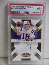 2009 Donruss Threads Peyton Manning PSA Mint 9 Football Card #43 NFL