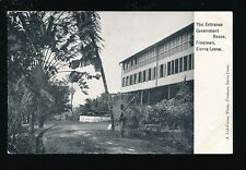 West Africa Sierra Leone FREETOWN Government House pre1919 PPC pub Lisk-Carew