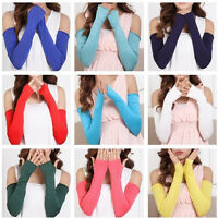 Trendy 20 Color Cosy Women Girl Arm Warmer Soft Cotton Long Fingerless Gloves