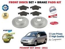 FOR PEUGEOT 807 2.0 3.0 2.2 HDI 2002-2011 FRONT BRAKE DISCS SET + DISC PADS KIT