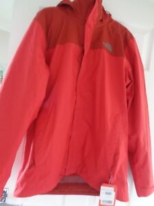 The North Face Evolve II TRI mens sample hooded jacket coat Size M NEW+TAGS
