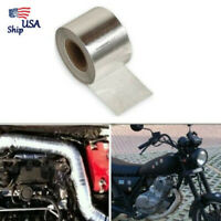 16ft Silver Fiberglass Wrap Barrier Tape Heat Shield Roll Exhaust Tape For Car z