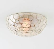POTTERY BARN Marina Faceted Shell Flushmount Ceiling Light Fixture, NEW