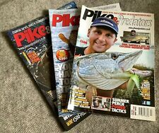 Pike & Predators Magazine X 3 Fishing Angling Tackle Fish Perch Rods Lures