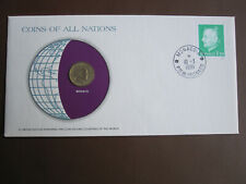 Monaco 1981 COINS OF ALL NATIONS cover with 10c coin + stamp
