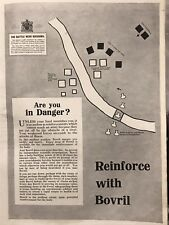 More details for antique 1915 bovril ad print wwi military map soissons battle patriotic