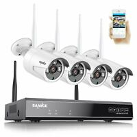SANNCE 8CH Wireless 1080P NVR Outdoor Home WIFI 2MP Camera CCTV Security System