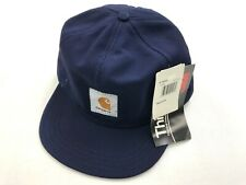 Vintage Men Carhartt Thinsulate 3M Made in USA Navy Blue winter fitted hat BNWT.