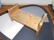 Vintage HOLGATE Wood Cobbler Bench Peg Hammer Toy Collectible