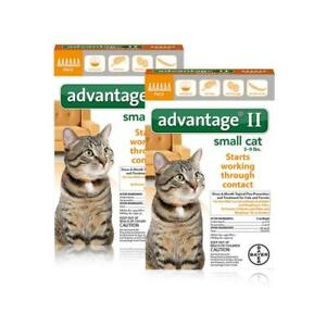 Advantage II Once a Month Topical Flea Prevention for Small Cats 5-9lbs 12Pack