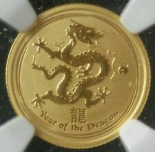 New Listing2012 P $15 Australia 1/10oz Gold Lunar Year of the Dragon Ngc Ms70