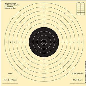 1000 Schießscheiben für Luftpistolen -PORTOFREI
