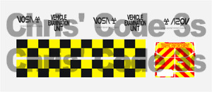 Code 3 Adhesive Vinyl Decal Suit Greenlight 1/43 - VOSA  - Ford Transit Various