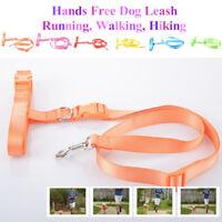 Colorful Dog Pet Leash Hands Free Running Walking Waist Hiking Belt Adjustable