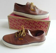 Vans Authentic Brown Leather Mens Shoes Trainers Skate Sneakers, UK 7