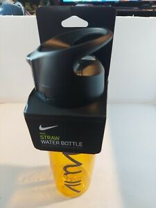 "Nike airmax Straw Water Bottle 24 OZ BPA-Free ""NIKE"" hyper amarillo/anthracite"